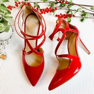 MICHAEL KORS Red Strappy High Heels